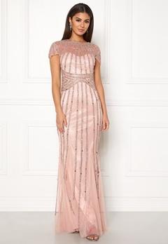 Goddiva Sunray Embellished Dress Nude Bubbleroom.dk