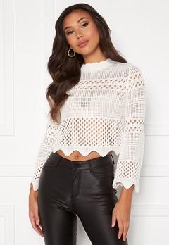 Guess Annie RN LS Sweater TWHT True White A000 Bubbleroom.dk