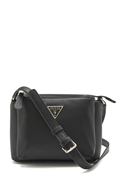 Guess Becca Double Zip Bag Black Bubbleroom.dk