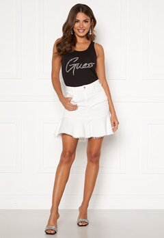 Guess Bloom Skirt JUWH Jungle White Bubbleroom.dk