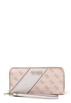 Guess Camy Large Zip Around Bag Blush Multi Bubbleroom.dk