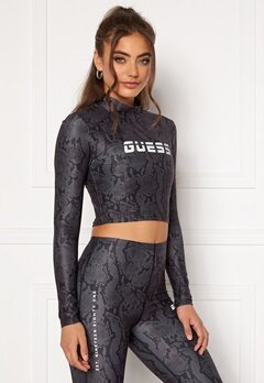 Guess Cropped Top Long Sleeve GBAM Bubbleroom.dk