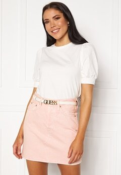 Guess Lias Adjustable Pant Belt White Bubbleroom.dk