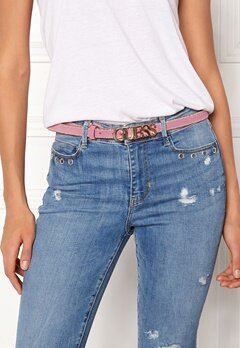 Guess Metal Chain Logo Belt Salmon Blush Bubbleroom.dk