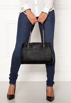 Guess Roby Girlfriend Satchel Black Bubbleroom.dk