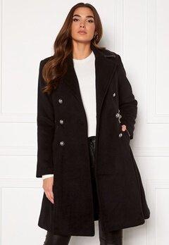 Guess Rossana Coat JBLK Jet black Bubbleroom.dk