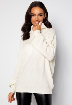 Guess Siliva Rollneck LS Sweater G012 Cream White bubbleroom.dk