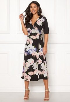Happy Holly Adaline occasion dress Black / Patterned Bubbleroom.dk