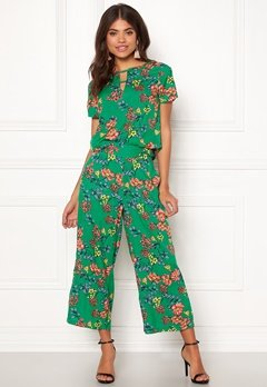 Happy Holly Addy wide pants Green / Patterned Bubbleroom.dk