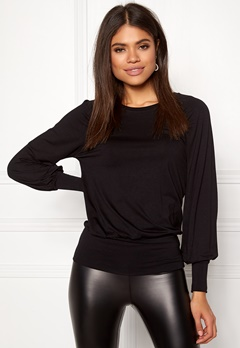 Happy Holly Adela cuff top Black Bubbleroom.dk