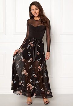 Happy Holly Alaina maxi skirt Black / Patterned Bubbleroom.dk