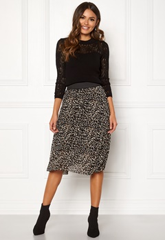 Happy Holly Alaina midi skirt Leopard Bubbleroom.dk