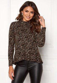 Happy Holly Alexandra top Leopard Bubbleroom.dk