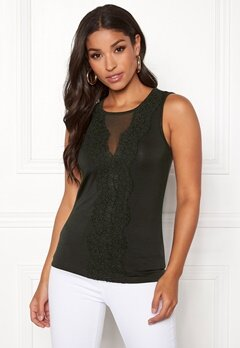 Happy Holly Alicia top Khaki green Bubbleroom.dk
