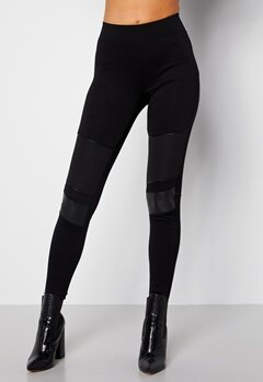 Happy Holly Allison biker leggings Black bubbleroom.dk