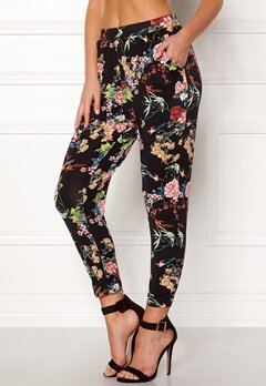 Happy Holly Ally tricot pants Black / Patterned Bubbleroom.dk