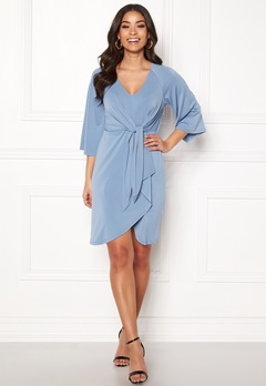 Happy Holly Alva dress Dusty blue Bubbleroom.dk