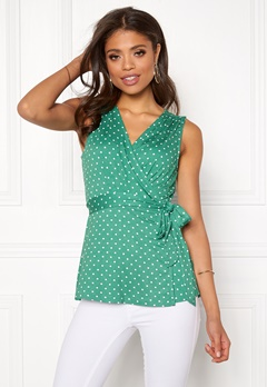 Happy Holly Amelie top Green / Dotted Bubbleroom.dk