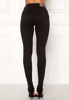Happy Holly Amy push up jeans Black Bubbleroom.dk