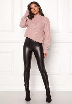 Happy Holly Andrea coated leggings Black Bubbleroom.dk