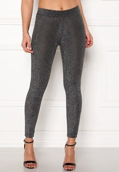 Happy Holly Andrea lurex leggings Black / Silver Bubbleroom.dk