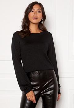 Happy Holly Angelica lurex sweater Black Bubbleroom.dk
