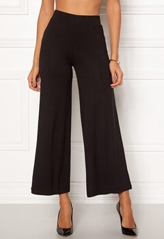 Happy Holly Anne tricot pants Black Bubbleroom.dk