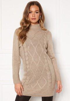 Happy Holly Arabella sweater dress Light beige bubbleroom.dk