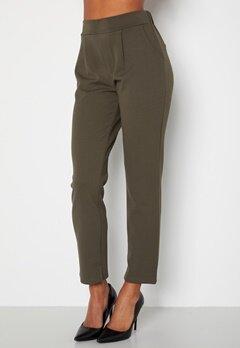 Happy Holly Avery soft suit pants Dark khaki-green bubbleroom.dk