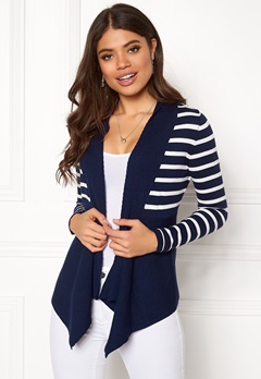 Happy Holly Beatrice cardigan Navy / Striped Bubbleroom.dk