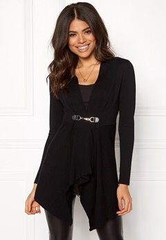 Happy Holly Beatrice long cardigan Black Bubbleroom.dk