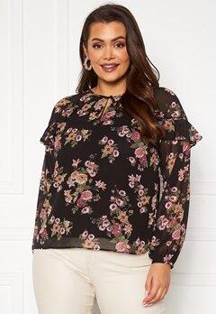 Happy Holly Becky blouse Black / Patterned Bubbleroom.dk