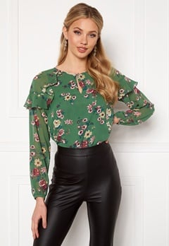 Happy Holly Becky blouse Green / Patterned Bubbleroom.dk