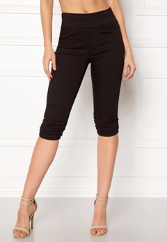 Happy Holly Becky capri jeggings Black Bubbleroom.dk