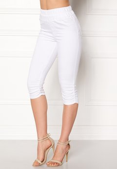 Happy Holly Becky capri jeggings White Bubbleroom.dk