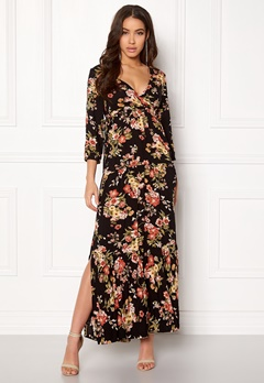 Happy Holly Betty maxi dress Black / Patterned Bubbleroom.dk