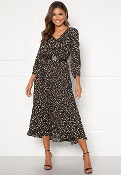 Happy Holly Bianka maxi  dress Black / Patterned Bubbleroom.dk