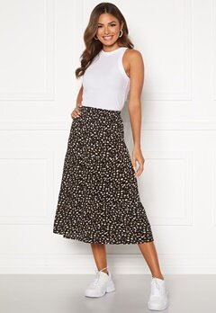 Happy Holly Bianka skirt Black / Patterned Bubbleroom.dk