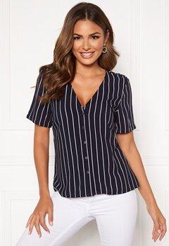 Happy Holly Blake blouse Dark blue / Striped Bubbleroom.dk