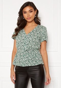 Happy Holly Blake blouse Khaki green / Patterned Bubbleroom.dk