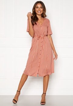 Happy Holly Blake dress Coral / Striped Bubbleroom.dk