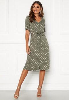 Happy Holly Blake dress Khaki green / Dotted Bubbleroom.dk
