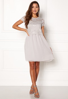 Happy Holly Blanche dress Light grey Bubbleroom.dk