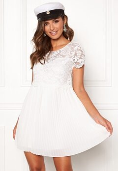Happy Holly Blanche dress White Bubbleroom.dk