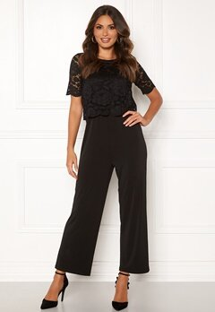 Happy Holly Blanche occasion jumpsuit  Black Bubbleroom.dk