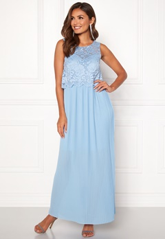 Happy Holly Blanche occasion maxi dress Light blue Bubbleroom.dk