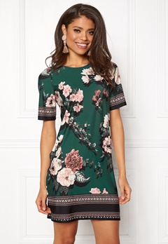 Happy Holly Blenda dress Dark green / Patterned Bubbleroom.dk