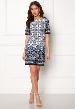 Happy Holly Blenda dress Offwhite / Patterned Bubbleroom.dk