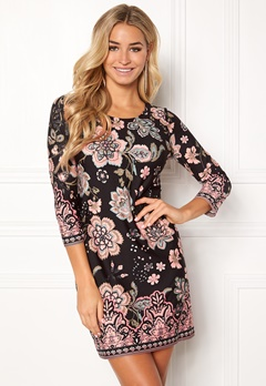 Happy Holly Blenda dress Black / Patterned Bubbleroom.dk