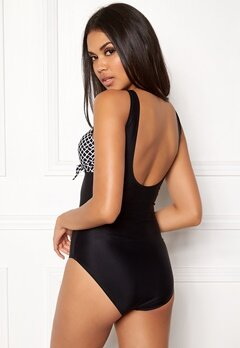 Happy Holly Blossom swimsuit Black / Patterned Bubbleroom.dk